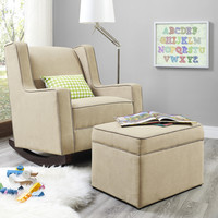 Dorel Living Baby Relax Abby Rocking Chair and Ottoman