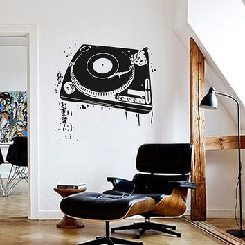 kik1356 Wall Decal Sticker DJ mixer electronic music room living room bedroom