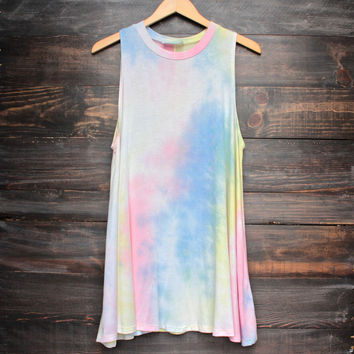to dye for shirt tank dress - rainbow tie dye