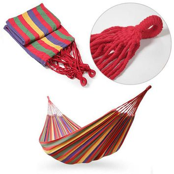 Portable Cotton Rope Outdoor Camping Hanging Hammock