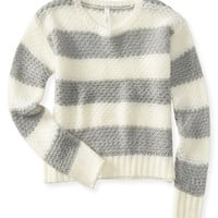 Aeropostale  Striped Boxy Sweater