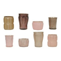 Pink Mercury Vintage Votive Holders