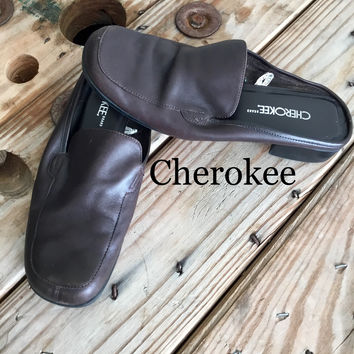 Cherokee Leather Slip On Shoes SZ 8.5