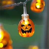 Halloween Mini Pumpkins LED Lights Outdoor Led Night Light Hanging Led String Light Halloween Decoration Party Supplies