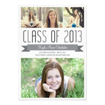 Proud Banner Graduation Invitation Announcement from Zazzle.com
