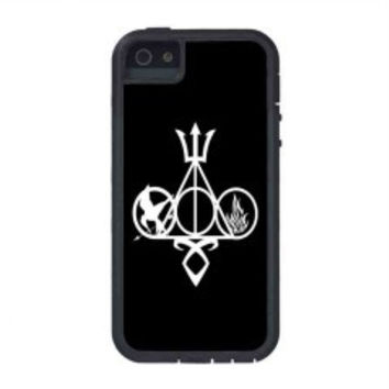 Harry Potter, Percy Jackson, Mortal Instruments, Hunger Games, and Divergent for iphone 5s case