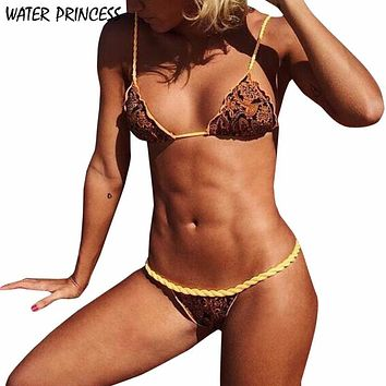 Sexy Women Bikini Set Swimwear low waist swimsuit Push-Up Padded Bra Swimsuit Beachwear badpak