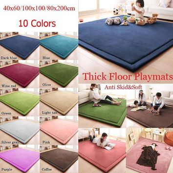 40x60/100x100/80x200cm Fluffy Thick Floor Mats Anti Skid Shaggy Rugs Bathroom Doormat Home & Living