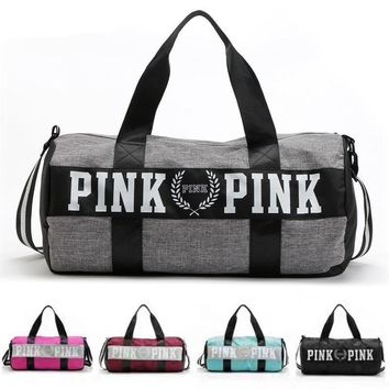 Barrel Travel Sports Fitness Bag For Women Men Gym Bag Hot Training Female Yoga Duffel
