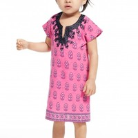 Little Girls' One Fine Morning Printed Cotton Tunic | Calypso St. Barth