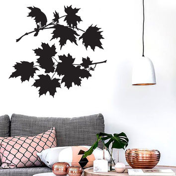 Vinyl Wall  Sticker Leaves Maple Tree Bush Beautiful Petals Unique Gift (n545)