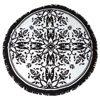 O'Neill - The Dome Round Towel | Black & White