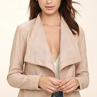 BB Dakota Peppin Blush Vegan Leather Jacket