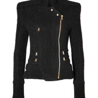 Balmain - Structural Knit Jacket in Black