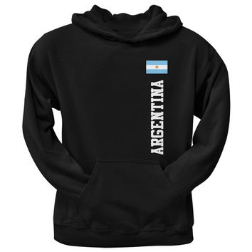 World Cup Argentina Black Adult Pullover Hoodie