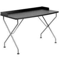 Flash Furniture Black Computer Desk w/ Silver Frame - NAN-JN-2116-BK-GG