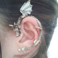 "Glitter ""Galaxy Dragon"" ear cuff"