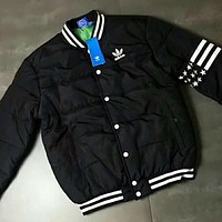 ADIDAS Popular Women Men Print Round Collar Cardigan Jacket Coat Windbreaker I-A001-MYYD