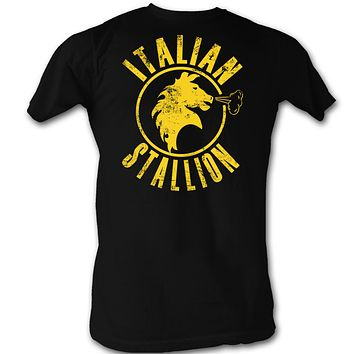 Rocky The Italian Stallion Black Distressed Tee Shirt