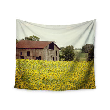 "Angie Turner ""Field Of Sunflowers"" Yellow Nature Wall Tapestry"