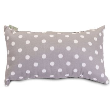 Gray Ikat Dot Small Pillow