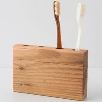Timber Trail Toothbrush Holder by Anthropologie in Multi Size: One Size House & Home