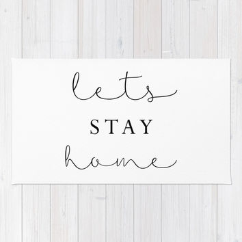 lets stay home Rug by Sylvia Cook Photography