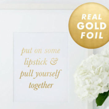 Creative Vibes Print, Good Vibes Only, Think Happy Thoughts, Gold Foil Print, Gold Foil, Gold Decor, Gold Foil Art, Rose Gold Foil Art