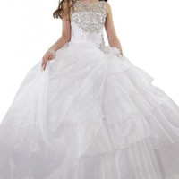 Hanayome Elegant Beading Flower Girl Birthday Party Dresses R103
