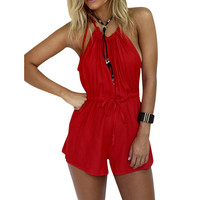 Women Ladies Clubwear Playsuit Bodycon Party Bodysuit Jumpsuit Rompers Womens Red Jumpsuits Combinaison Femme 1STL ELY
