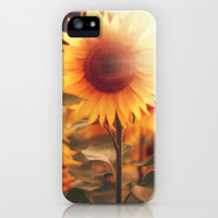 Sunflower. iPhone & iPod Case by Julia Dávila-Lampe
