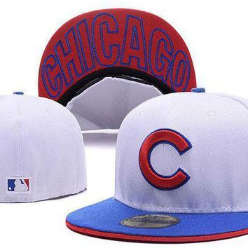 Chicago Cubs New Era 59fifty Mlb Cap White Blue