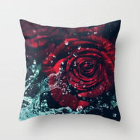 Roses Throw Pillow by EllipsisArts