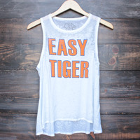 Chaser easy tiger tank in white