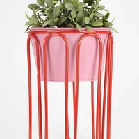 Assembly Home Curved Line Planter- Red Multi One