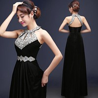 Evening Dress Floor-length Satin Sexy Formal Prom Party Gowns Elegant Long Evening Dresses