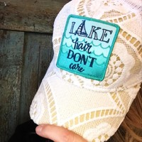 Lace Lake Hair Ball Cap