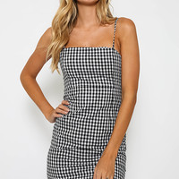 Cha Cha Mini Dress - Gingham