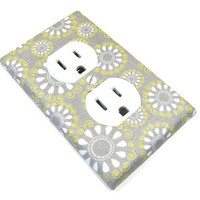 Teardrop Flowers Outlet Cover Electrical Duplex  by ModernSwitch