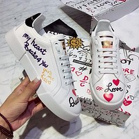 Dolce & Gabbana D&G Women Fashion Old Skool Sneakers Sport Shoes