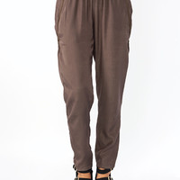 Double-Zipper-Lounge-Pants BEIGE BLACK SLATE - GoJane.com
