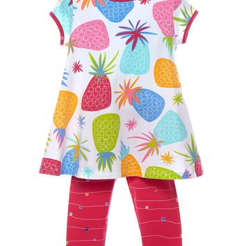Three Friends Pineapple Top with Capri Pants