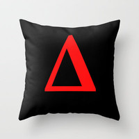 Delta  Δ Throw Pillow by Bruce Stanfield