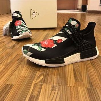 PEAPU3S Sale OFF WHITE x Pharrell Williams x Adidas PW HU Human Race NMD Boost Sport Running Shoes Classic Casual Shoes Sneakers