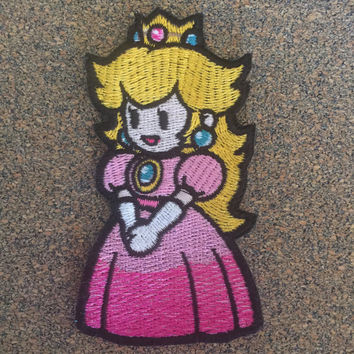 Paper Princess Video Game Iron on or sew on Patches
