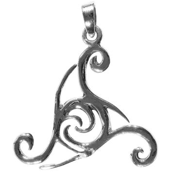 Triple Spiral Sterling Silver Pendant