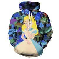 Trippy Alice In Wonderland On Mushrooms Hoodie