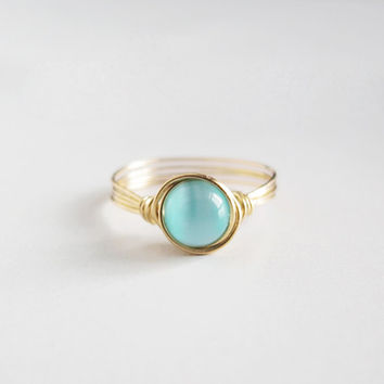 Turquoise Cat Eye Ring