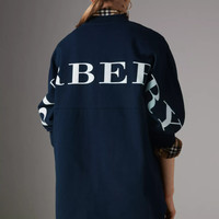 Burberry Printed Cotton Oversized Sweatshirt