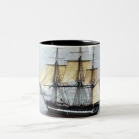USS Constitution at Full Mask Two-Tone Coffee Mug